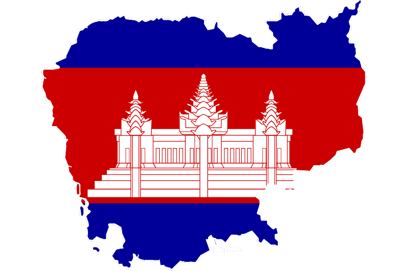 cambodia-flag-map