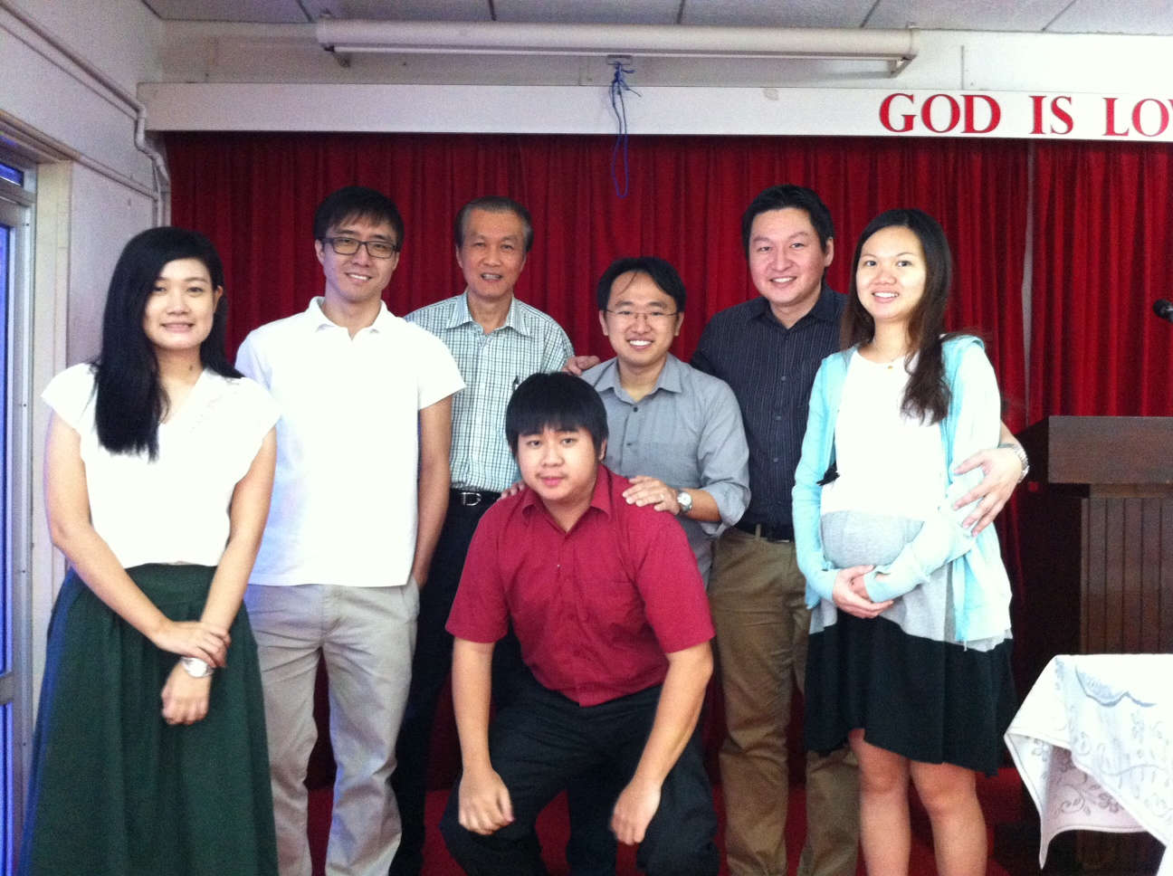 Missions committee with church elder Mr Wong (SS not in picture)