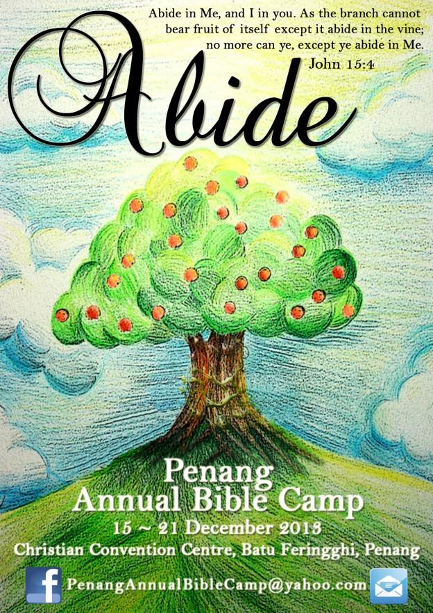 Prayer for Penang Bible Camp 2013